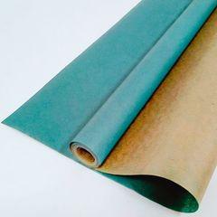 Крафт-бумага упаковочная вержированная однотонная Морская волна / рулон 70 см * 10 м, 40 гр/м.кв