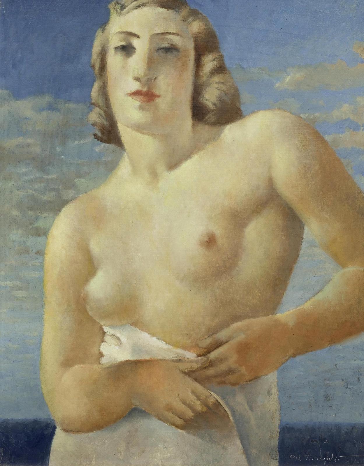 Рудольф-Теофил Босхард. 1935. Бюст обнаженной (Buste de femme nue). 61 x 50.3. Холст, масло. Частное собрание.
