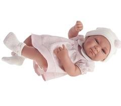Munecas Antonio Juan Кукла-младенец Оливия в розовом, 42 см (5052P)