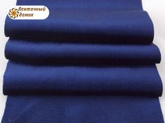 Бархат для бантиков синий