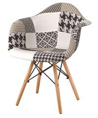 Кресло THEO BLACK+WHITE (черный/белый)