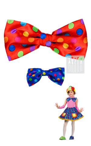 Фото Клоун Тяп - Ляп ( бант ) ( в цветной горох ) рисунок Цирковые костюмы для детей и взрослых от Мастерской Ангел. Вы можете купить готовый или заказать костюм для цирка по индивидуальному дизайну.