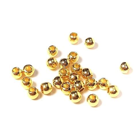 Бусина Горошек 2,5 мм цвет золото 1шт