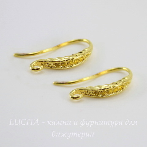 Швензы - крючки с узором, 18 мм (цвет - золото), пара