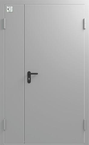 Дверь входная Сибирь ДМП EIWS-60, 1 замок, 1,2 мм  металл, (RAL 7040+RAL 7040)