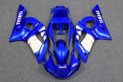 Комплект пластика для мотоцикла Yamaha YZF-R6 98-02 Сине-Белый COLOR+