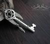 "Подвеска ""Ключ"" 60х21 мм (цвет - античное серебро) (Кулон ""Ключ"". Пример)"