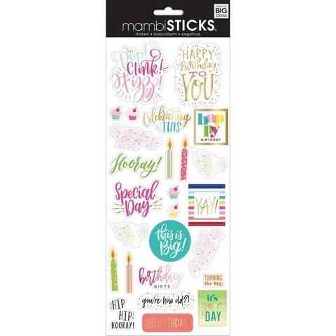 Стикеры ацетатные  mambi Specialty Stickers Happy Day 13х30 см