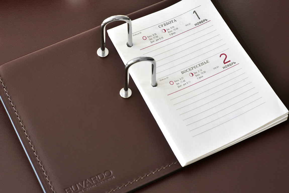 держатель календаря из кожи для руководителя люкс