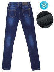 HD8508 джинсы женские утепленные, синие