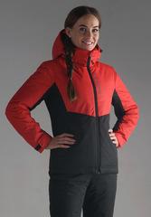 Утеплённая прогулочная лыжная куртка Nordski Montana Red-Black женская