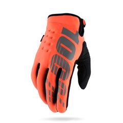 Перчатки 100% Brisker Glove утепленные размер: XL Fluo Orange/Black