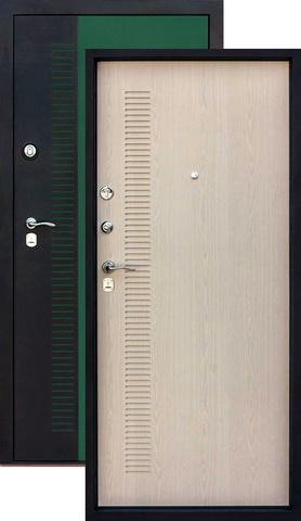 Дверь входная Уссури стальная, венге светлый, 2 замка, фабрика Город Мастеров