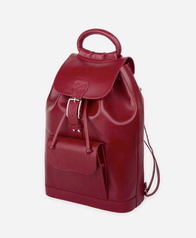 Рюкзак бордового цвета с пряжкой