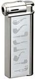 Зажигалка Sarome PSP-13 Silver super satin with pipe designs SR PSP-13