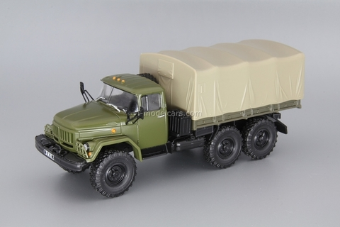 ZIL-131 flatbed with awning khaki 1:43 DeAgostini Auto Legends USSR Trucks #15