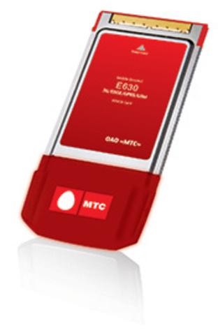 Huawei E630 МТС GSM/GPRS/EDGE/3G PCMCIA модем