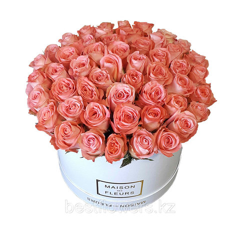 Коробка Maison Des Fleurs Лососевые