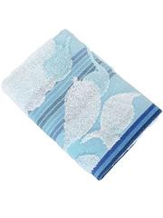 153-1 полотенце Улыбка, голубое