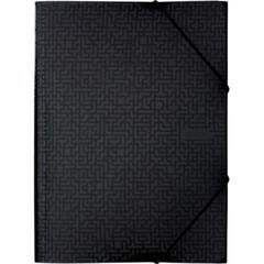 Папка на резинке Attache Confidence черный