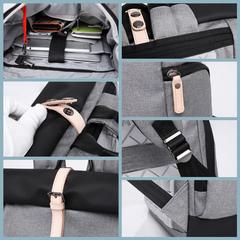 Рюкзак антивор молодёжный для ноутбука 15,6 KAKA 17002 серый