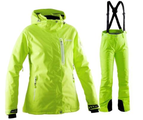 Женский горнолыжный костюм  8848 Altitude Aruba/Winity (lime)