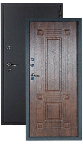 Дверь входная Алмаз Топаз, 2 замка, 1,5 мм  металл, (чёрный шёлк+тиковое дерево)