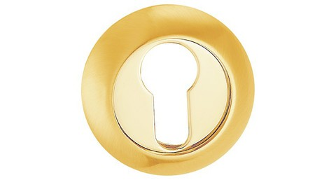 Фурнитура - Накладка На Цилиндр  ONYX ET ZB 55, цвет матовое золото