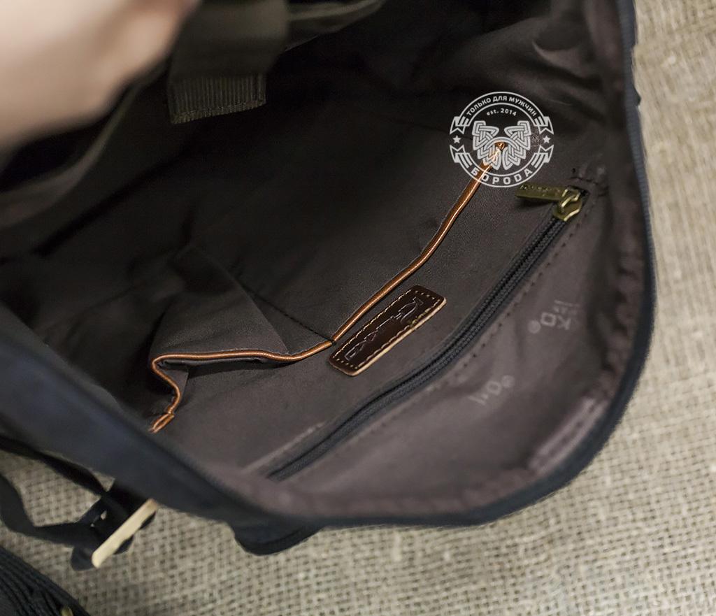 BAG368-3 Мужская сумка рюкзак - трансформер из ткани синего цвета фото 03