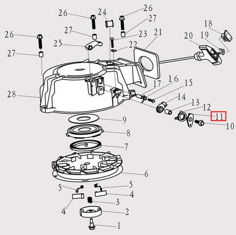 Рычаг для лодочного мотора F9.8 Sea-PRO (8-11)