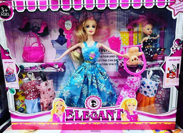 Кукла модель с огромным количеством аксессуаров 20 СМ(№1)