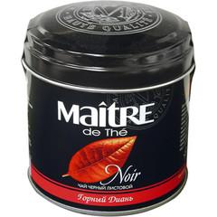 Чай Maitre Горный Диань круп.листовой черн.100г ж/б