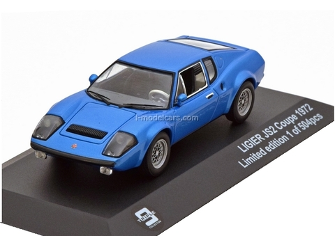Ligier JS2 Coupe 1972 blue metallic Triple9 1:43