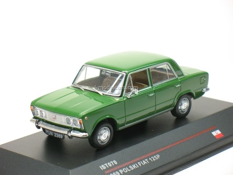 Polski Fiat 125P green 1969 IST070 IST Models 1:43