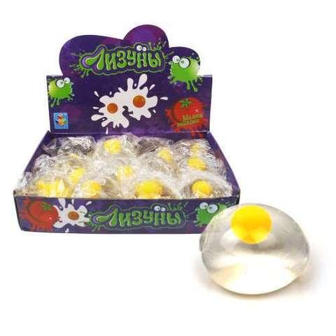 Лизун яйцо прозрачное 6 см