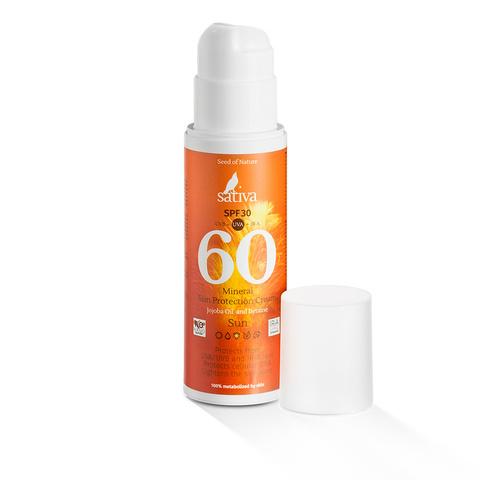 Солнцезащитный минеральный крем для тела № 60, SPF30, Sativa