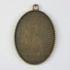 """Сеттинг - основа - подвеска """"Париж"""" для камеи или кабошона 40х30 мм (цвет - античная бронза)"""
