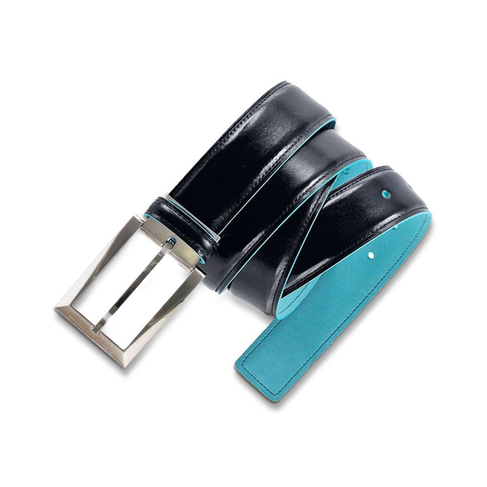 Ремень Piquadro Blue Square, цвет синий, 125x3,5 см (CU1521B2/BLU2)