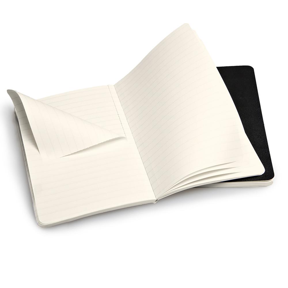 Набор 2 блокнота Moleskine Volant Pocket, цвет черный, в линейку
