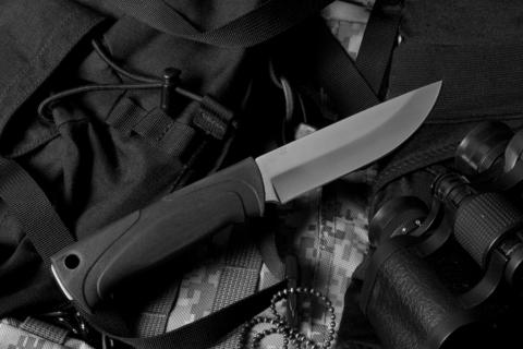 Туристический нож Стерх-1 Полированный Орнамент Х12МФ АВС чехол