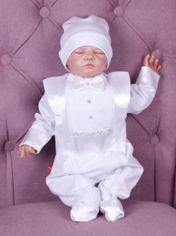 Нарядный костюм для малыша Смокинг белый