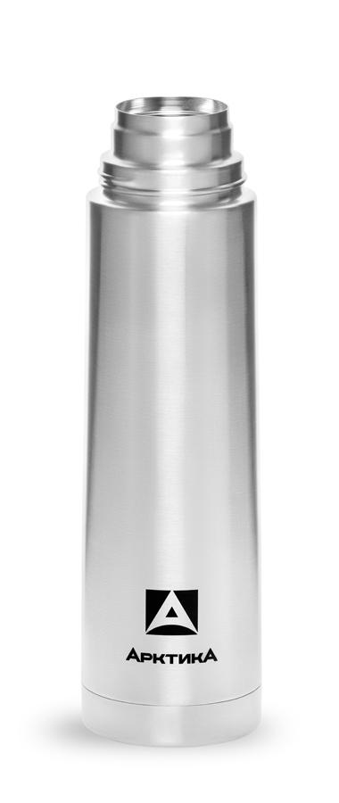 Термос Арктика (1 литр) с узким горлом классический, стальной*