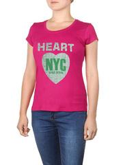 8522-1 футболка женская, розовая