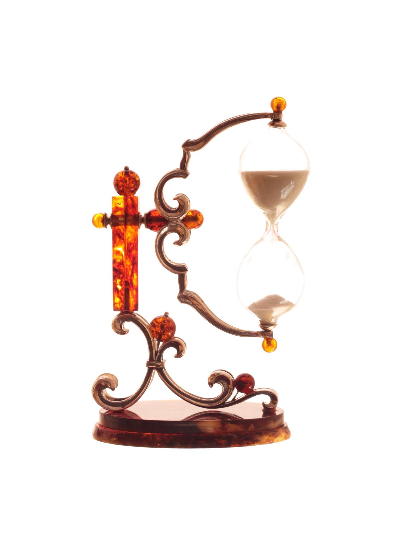 Сувенир Песочные часы, янтарь от 14 660 руб