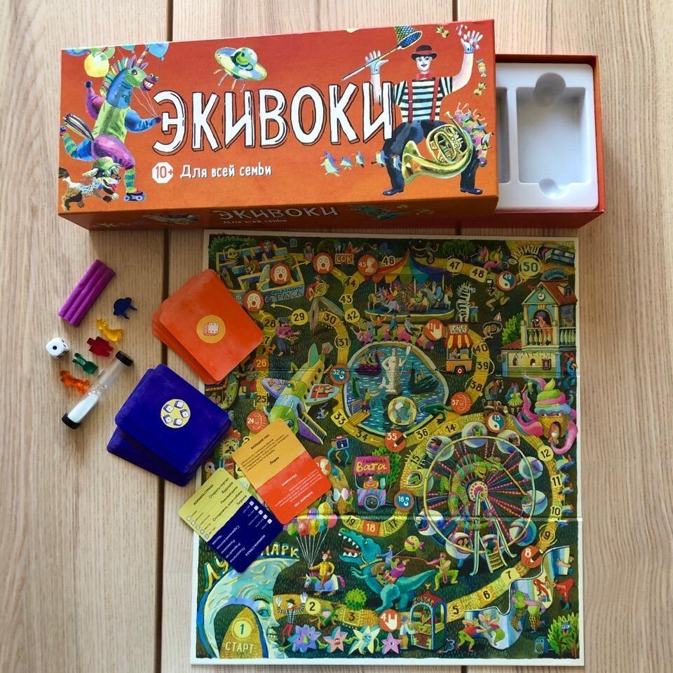 Настольная игра Экивоки: для всей семьи комплектация