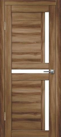 Дверь Дверная Линия Палермо-1, стекло снег, цвет барон тёмный, остекленная