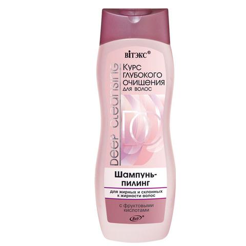 Витэкс Курс глубокого очищения для волос Шампунь-пилинг для жирных и склонных к жирности волос с фруктовыми кислотами 500 мл