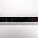 Бусина из гематита прессованного, фигурная, 10 мм (куб, гладкая)