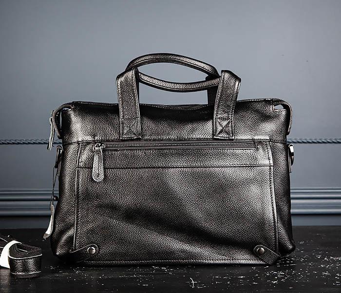 BAG513-1 Стильная мужская сумка из натуральной кожи фото 02