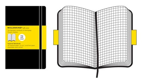 Moleskine Soft Large Squared Notebook